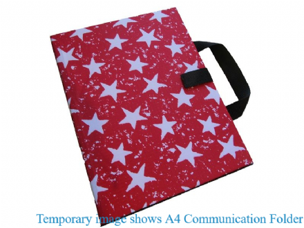 A4 Communication Book - Rigid Covers - Red Stars